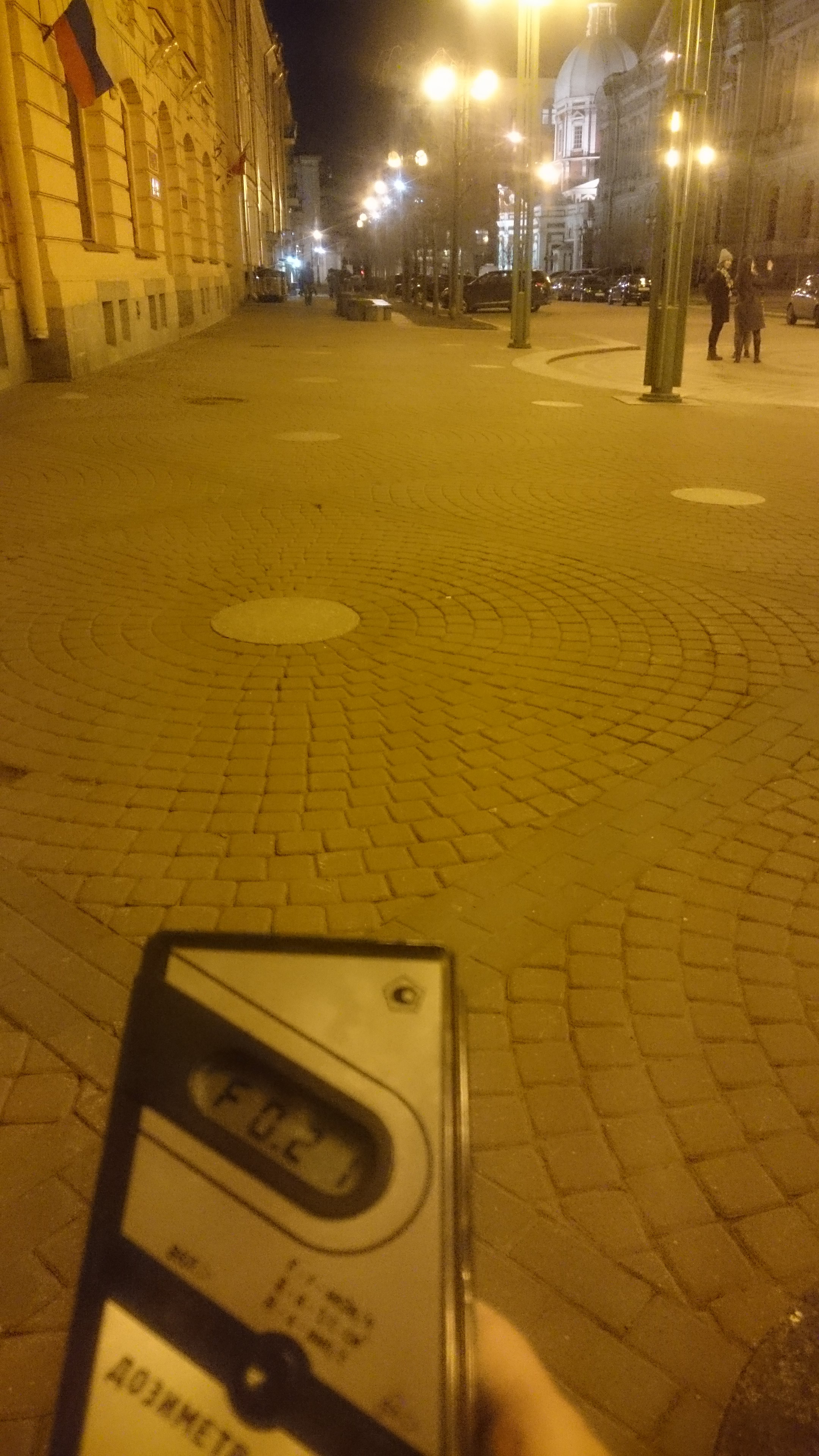 Точка измерения МЭД гамма-излучени на Соляном переулке в Санкт-Петербурге