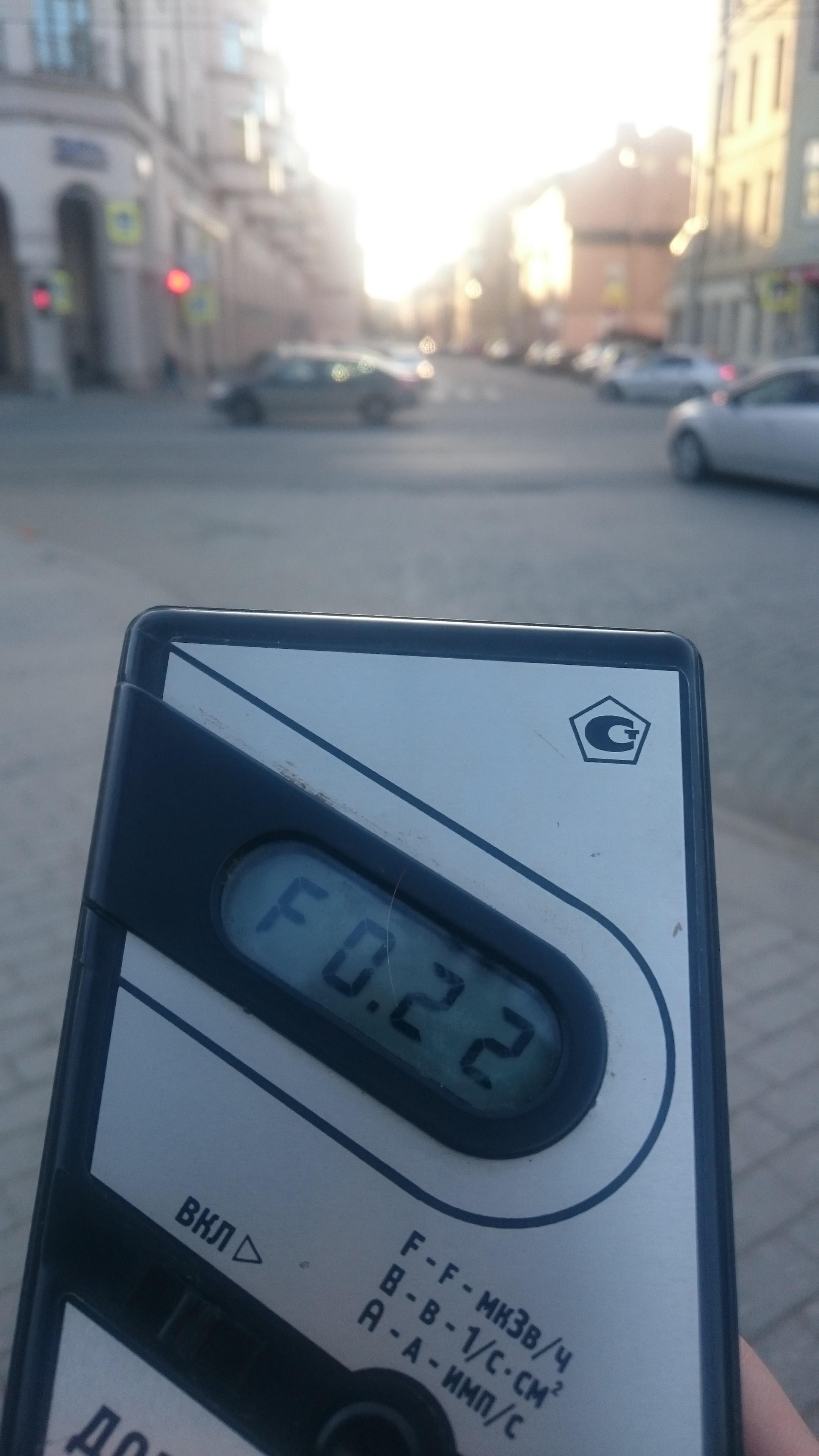 Точка измерения МЭД гамма-излучени на Кронверкском проспекте в Санкт-Петербурге