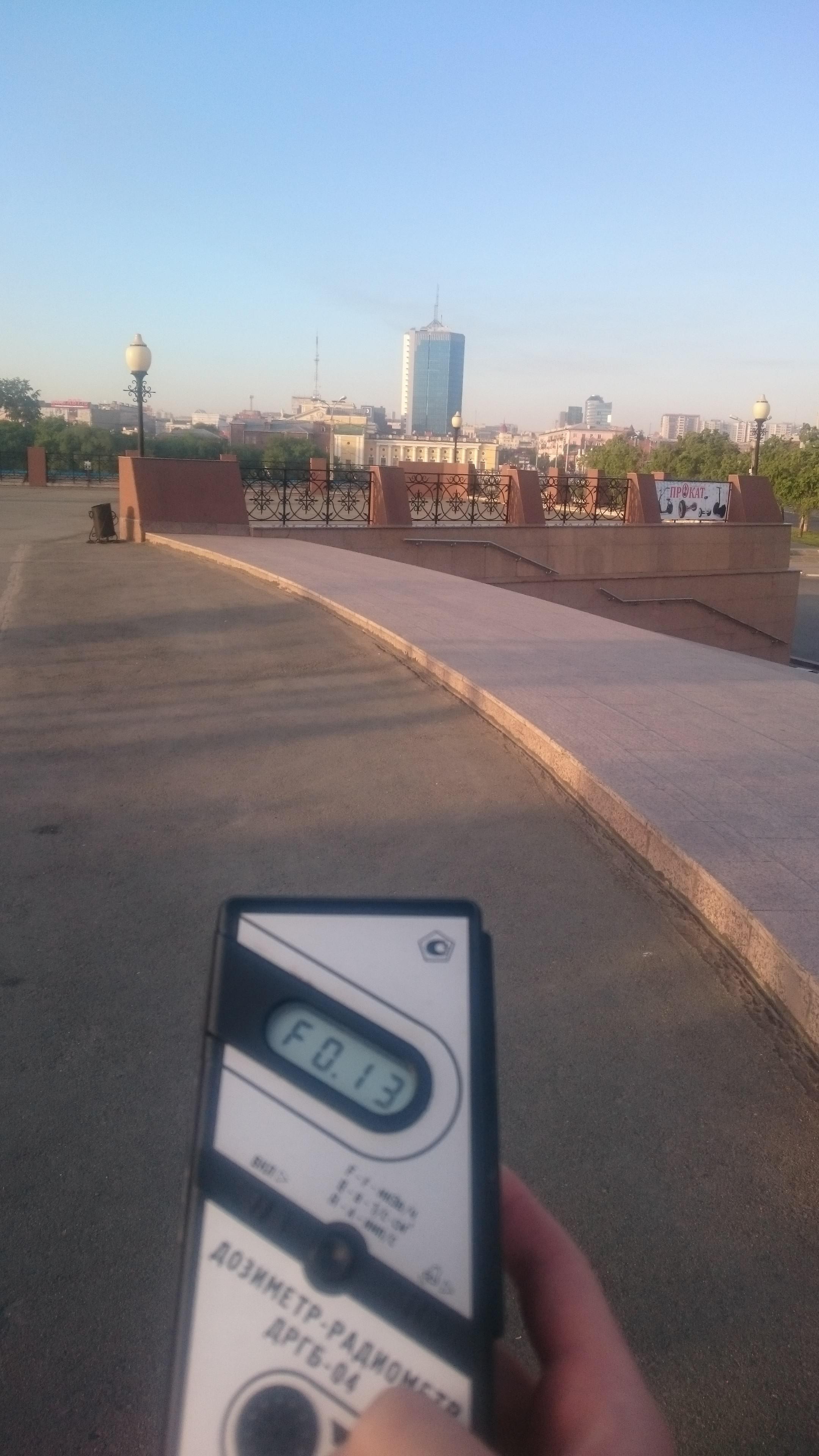 Точка измерения МЭД гамма-излучения в Челябинске